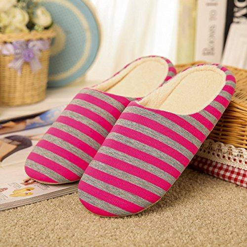Pantofole da uomo e da donna - Pantofola Spa, Pantofole da casa antiscivolo in cotone a righe...