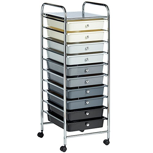 VonHaus 10 Drawer Storage Trolle...