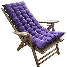 Zhaoke Coussin de Chaise Longue Epais Coussin Doux pour Chaise de Jardin  Fauteuil à Bascule Violet 11f2a5b6f934