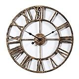 GANADA 19,7Zoll Wanduhr Vintage Wanduhr Groß Wanduhr Lautlos Wanduhr aus Eisen für Wohnzimmer, Küche, Büro und Schlafzimmer