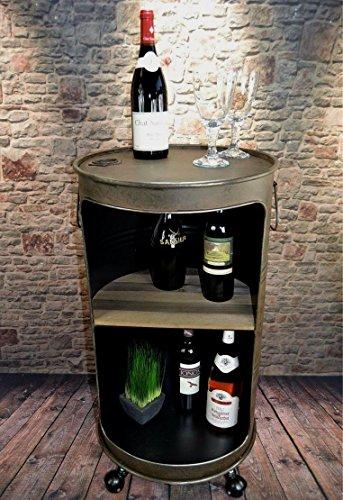 Livitat Beistelltisch Tisch Regaltisch Rostig Ölfass Tonne H80cm Industrie Look Loft Vintage LV5055