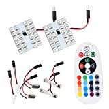 #5: Kykit 48 LED Car Interior Light Accessories for Decoration - Blue Red Green White Variations-For Cabin Roof Dome