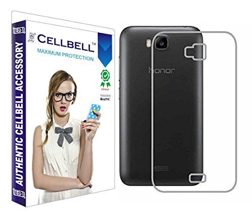 Cellbell Ultra Thin 0.3mm Clear Transparent Flexible Soft TPU Slim Back Case Cover For Huawei Honor Bee
