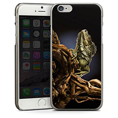 Apple iPhone 4 Housse Étui Silicone Coque Protection Saurien Reptile Animal CasDur anthracite clair