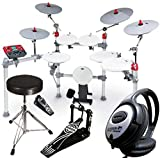KAT Percussion KT3 E-Drum Set + Bassdrum Pedal + Hocker + KEEPDRUM Kopfhörer