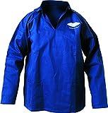 Fladen Veste pour homme–100% coton de qualité résistant avec 2poches–Idéal pour la pêche, travail en extérieur, Ateliers, DIY (Taille S à XXXL) Bleu Bleu moyen