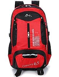 Deportes Backpackers Bolsa de hombro doble Gran capacidad de turismo Montañismo Paquete de senderismo , red