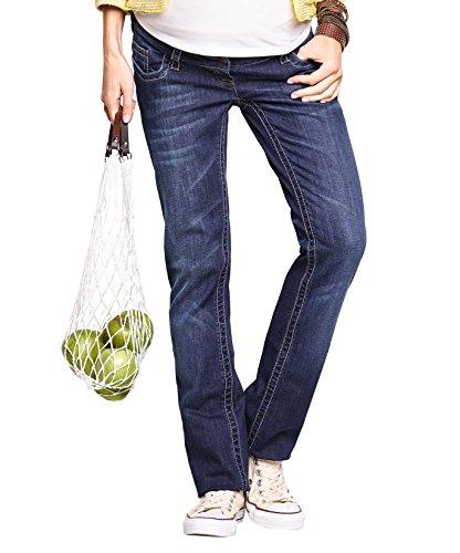 Christoff Umstandshose Schwangerschaftsjeans Marlene - Boot Cut - klassischer Freizeitlook - elastischer Comfort-Bund - 456-89 - blau - 38 / L32 - Pocket Maternity Jeans Boot Cut