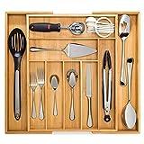 Artisware Bambù espandibile cassetto organizzatore, posate e vassoio utensile (7 scompartimenti espandibili)