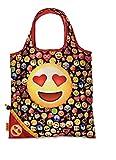 Einkaufstasche ,Tasche , Shopper - Smiley - verschiedene Motive (Bunte Smiley rot)
