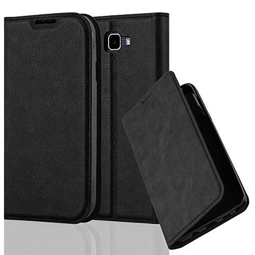 Cadorabo Hülle für LG K3 2016 - Hülle in Nacht SCHWARZ – Handyhülle mit Magnetverschluss, Standfunktion und Kartenfach - Case Cover Schutzhülle Etui Tasche Book Klapp Style