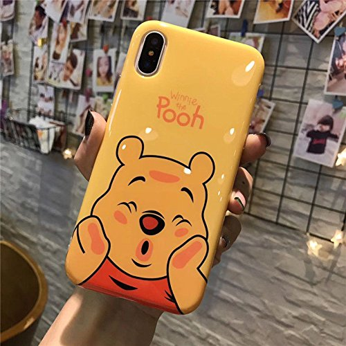 Disney Minnie & Seven Dwarfs Weiche, transparente TPU-Handyhülle for iPhone 6, iphone7, 7plus & 8plus (iPhone 7PLUS / 8PLUS, Pooh 2)