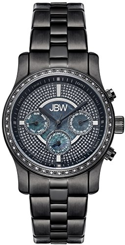 JBW WOMEN'S VIXEN DIAMOND 37MM IP STEEL BRACELET SWISS QUARTZ WATCH J6327E
