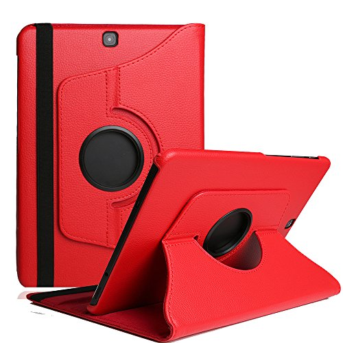 Preisvergleich Produktbild Rot Galaxy Tab A 10.1 Hülle ,TechCode 360 Grad Drehung Schutzhülle Flip Case Book Cover lederhülle für Samsung Galaxy Tab A 10.1 2016 T580N/ T585N mit Standfunktion / Auto Sleep - PU Leder