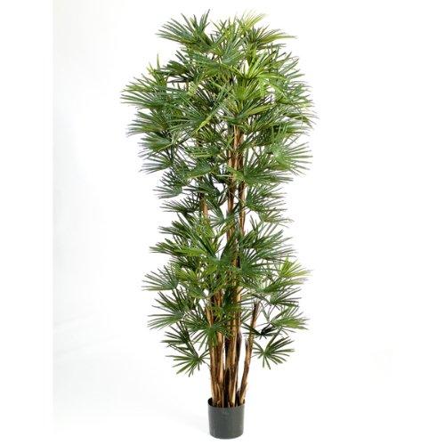 artplants Deko Steckenpalme mit 103 Blättern, DELUXE, 150 cm - Künstliche Palme/Kunstbaum