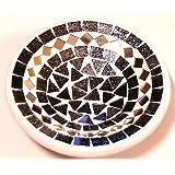 Plana mosaicos Copa 15cm plato vacío bolsillo cerámica Mosaic Plate Bali Gris