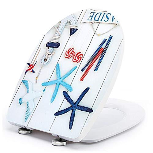 S-graceful WC-Sitze U-Form Kompatibel Toilettendeckel Mit Antibakteriellem PP-Board Verstellbarem Scharnier Oben Montiertem WC-Deckel,OneColor-36 * 44.5CM -