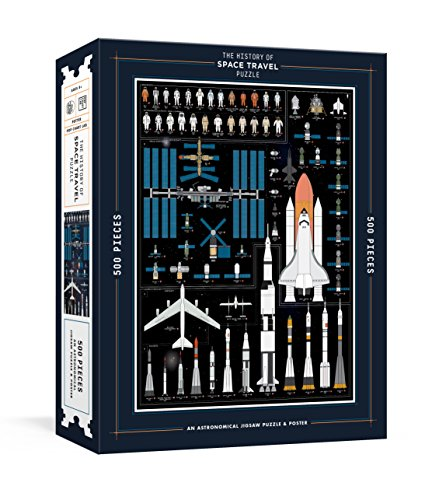 The History of Space Travel Puzzle. 500 Pieces: Astronomical Jigsaw Puzzle & Poster