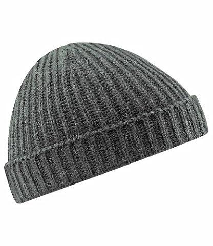 Beechfield Bonnet en tricot Unisexe Fashion rétro Style pêcheur - gris - Taille unique