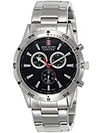Swiss Military 06-8041.04.007 - Reloj analógico de cuarzo para hombre con correa de acero inoxidable, color plateado