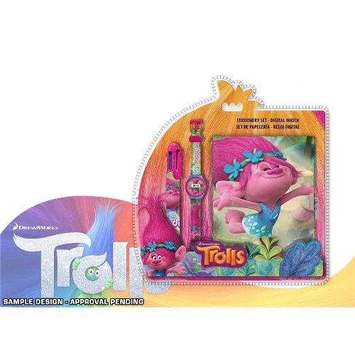 TROLLS- Set Reloj Bolígrafo y Diario (Kids TR17068)