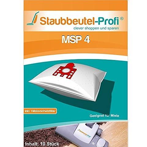 10 Staubsaugerbeutel geeignet für Miele S8 UniQ, S8 Parkett & Co, S8 Cat & Dog, S8 Haus & Co, S8 Medicair, Made in Germany von
