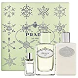 Prada Infusion D' Iris Geschenkset 100ml EDP Eau de Parfum Spray + 10ml EDP  + 100ml Body Lotion