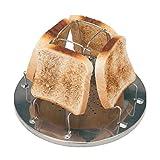 Sipliv Edelstahl Toast Rack Camp Herd Toaster Frühstück Toaster Sandwich Toast Rack für Outdoor-Camping Outdoor-Aktivitäten faltbar Toast Rack