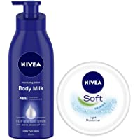 NIVEA Nourishing Lotion Body Milk With Deep Moisture Serum And 2x Almond Oil for Very Dry Skin, 400ml And NIVEA Soft…
