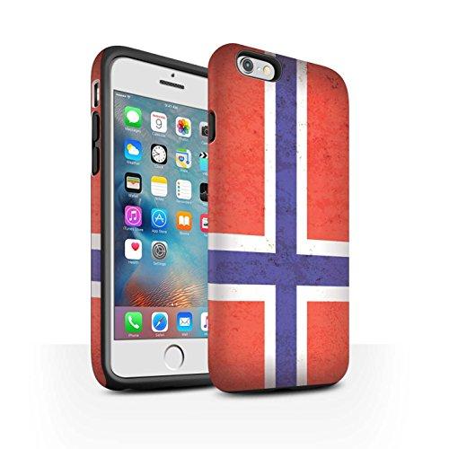 STUFF4 Matte Harten Stoßfest Hülle / Case für Apple iPhone 7 / Litauen/Litauisch Muster / Europa Flagge Kollektion Norwegen/Norwegisch