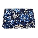 Estuche de Almacenamiento de Láminas Caja Protector de Cañas Cubierta Paño de Seda para 6 Piezas Oboe Reeds ( Color : Azul )
