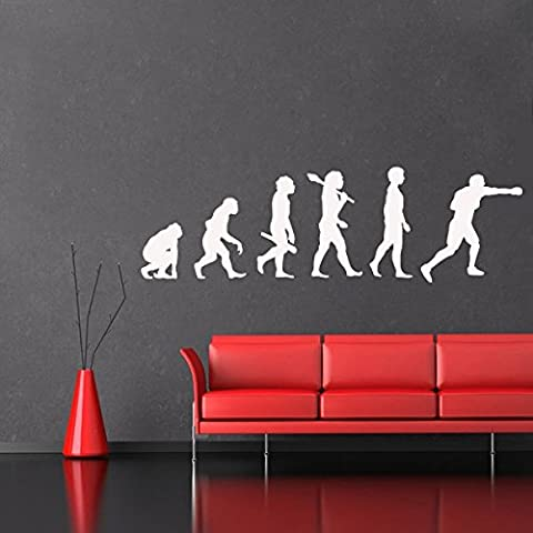 Evolution Boxeur - Sticker mural or 327 x 100 cm (Muraux Décoration Murale Stickers Wall Decal Autocollants Salon Chambre d'enfants Nursery Made in Germany)