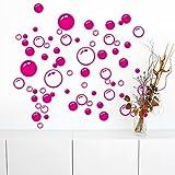 Ouneed® Wandaufkleber Wandtattoo Wandsticker , Bubbles Kreis entfernbare Wand Tapete Badezimmer Fenster Aufkleber Abziehbild Ausgangs DIY (Hot pink)