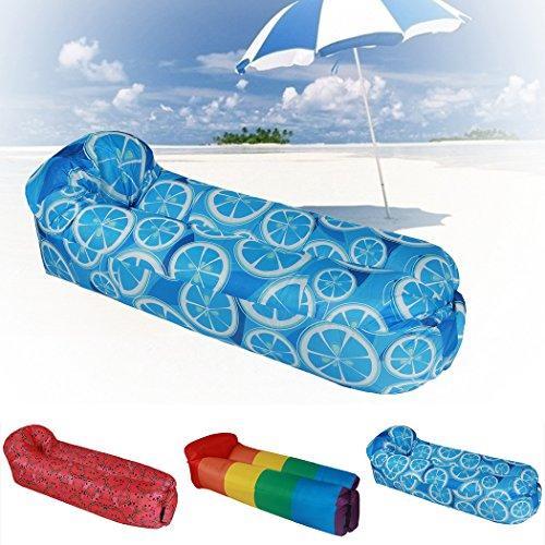 Aufblasbares Sofa,Fansport Wasserdichtes Sofa Strand Sofa Tragbares Sofa Garten Aufblasbar Reise...