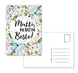 """Muttertagskarte, Postkarte Muttertag """"Mutti, Du bist die Beste!"""""""