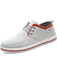 CUSTOME Herren Segeltuch Schuhe Eben Weich Leicht Beiläufig Gehen Schuhe Sneaker Espadrilles Komfort Weiß yfC6UQE7i
