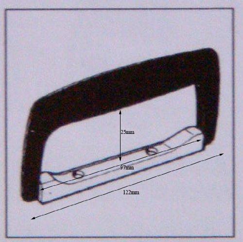 Koffergriff aus Kunststoff/Metall, mit Schrauben
