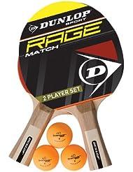 Dunlop Ac Rage Match 2 Player Set - Kit de ping pong