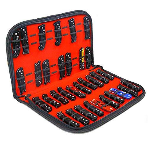 HNYG B773 Multifunktions-Aufbewahrungsbox für Messer, mit 40 Fächern, für Reisen, Küchenmesser, Aufbewahrungstasche