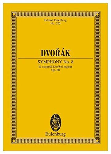 Sinfonie Nr. 8 G-Dur: op. 88. B 163. Orchester. Studienpartitur. (Eulenburg Studienpartituren)