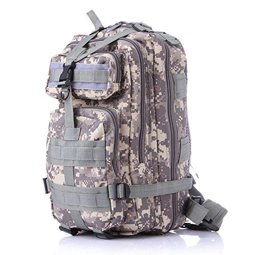 hapileap 3P Tactical Rucksack–Trekking Rucksack Survival Militär Tasche für Wandern Camping Trekking 35L–Heavy Duty Rucksäcke ACU