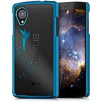 kwmobile Elegante y ligera funda Crystal Case Diseño Hada para LG Google Nexus 5 en azul transparente