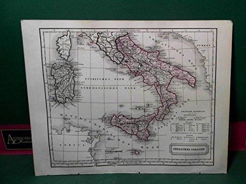 Südliches Italien - Gesamtkarte.