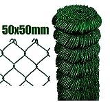 Nextradeitalia Cf. da 1PZ Rete per recinzione Zincata PLASTIFICATA a maglia sciolta in rotolo da 25mt filo mm 2,3 altezza CM 200 H maglia mm 50x50