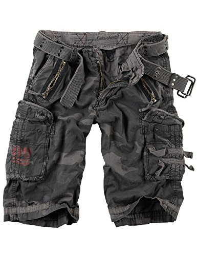 Surplus Royal Herren Cargo Shorts Blackcamo