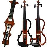 Aliyes faite à la main Silencieux Violon électrique 4/4Taille complète pour violon professionnel pour débutant en bois massif pour violon kit Corde, Épaulière, colophane SDDS-1804