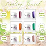 Set da 6 gel UV colorati Rainbow 6x5 ml Nail Studio Colore Gel UV Set per il Nail Design professionale