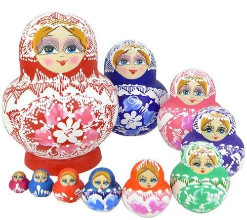 Sch?ne Holz Sourcingmap Matroschka Puppe Matroschka-Puppen M?chten, Handgefertigt, Hot Sale 10 St¨¹ck (Eine Bike Reflective Band Als Geschenk) 10 St¨¹ck (Et Costume Bike)