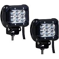 2 x 18W luce LED-Bar EpochAir luci abbaglianti LED, luci Off Road, 1260 lumen Cree LED Light Spot Work Driving Fog LED Light Bar Staffa per Boat SUV Jeep 4 x 4