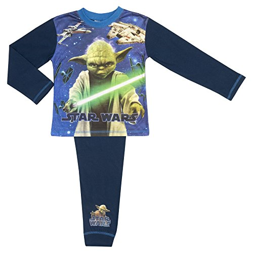 Star Wars Original Movie Boys Pyjamas - Age 4-12 - Yoda 9-10 Years / 134-140 cms